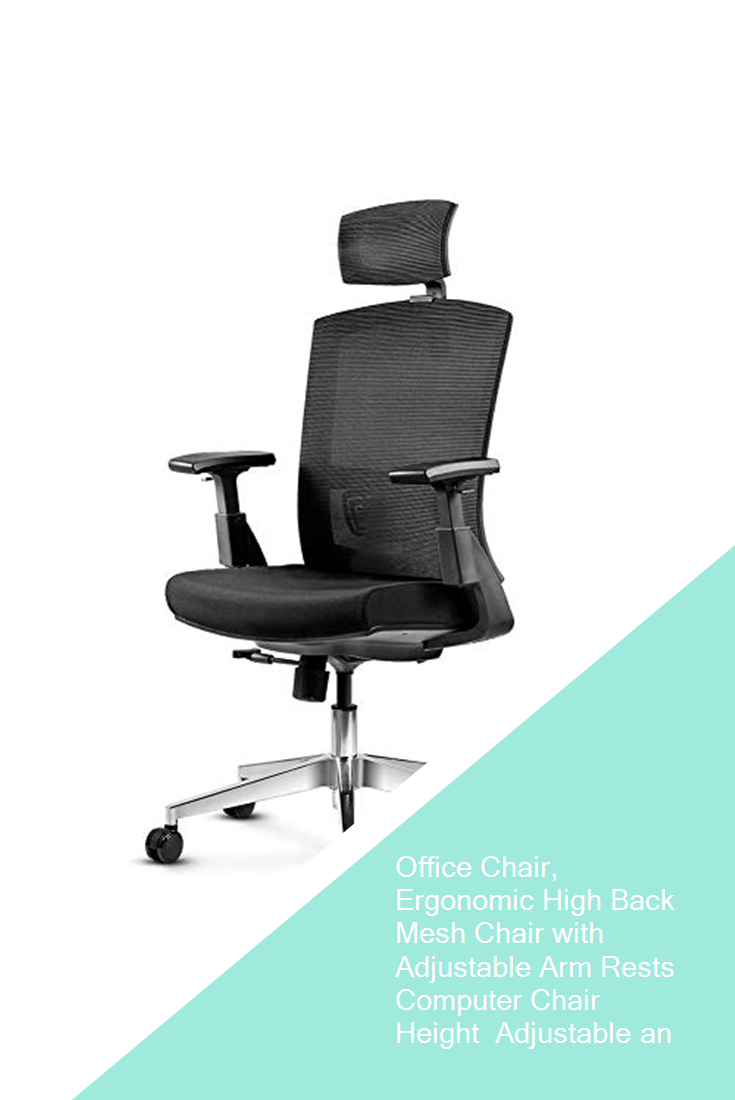 Office Chair Ergonomic High Back Mesh Chair With Adjustable Arm