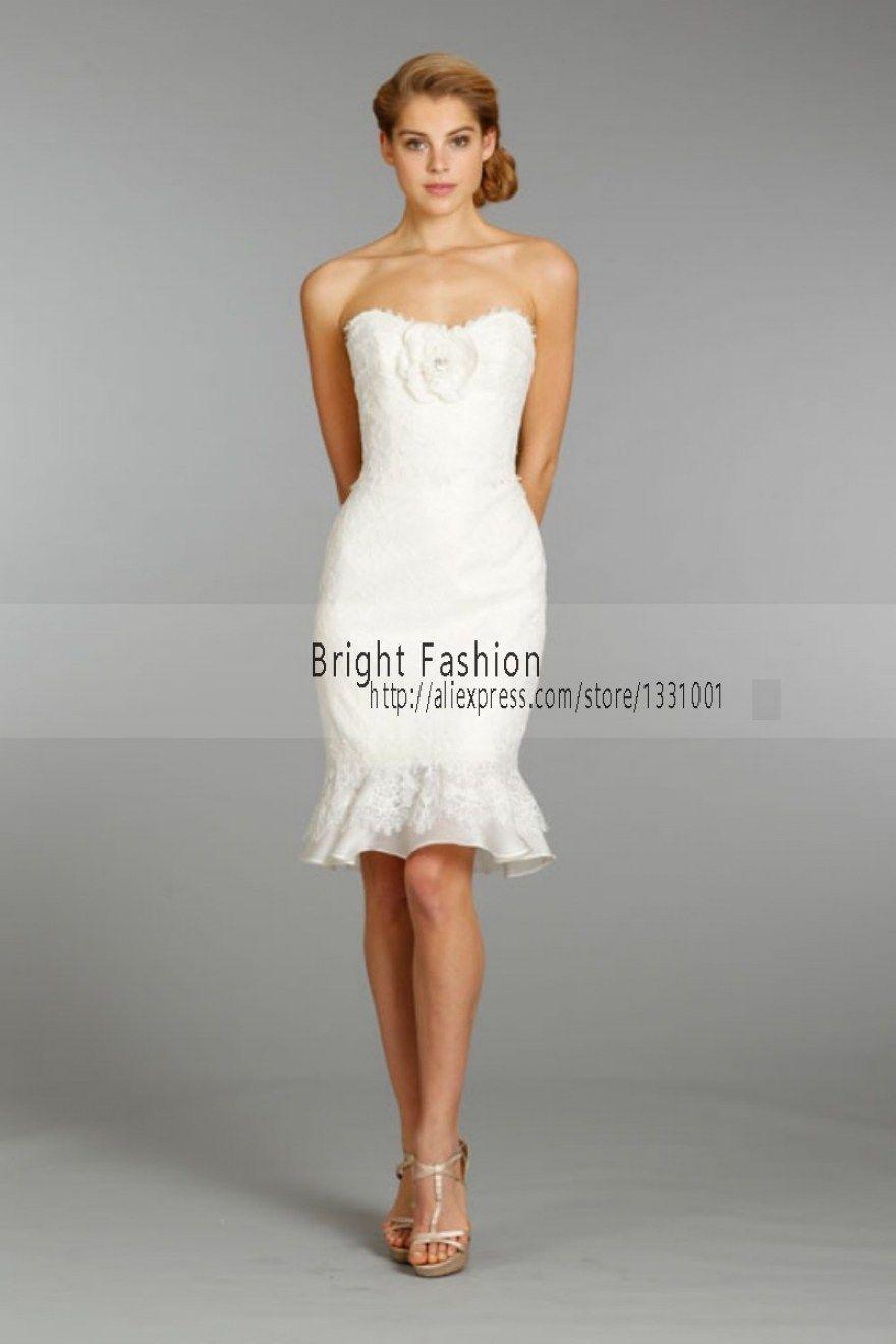 32 Amazing Short White Dresses For Wedding Reception