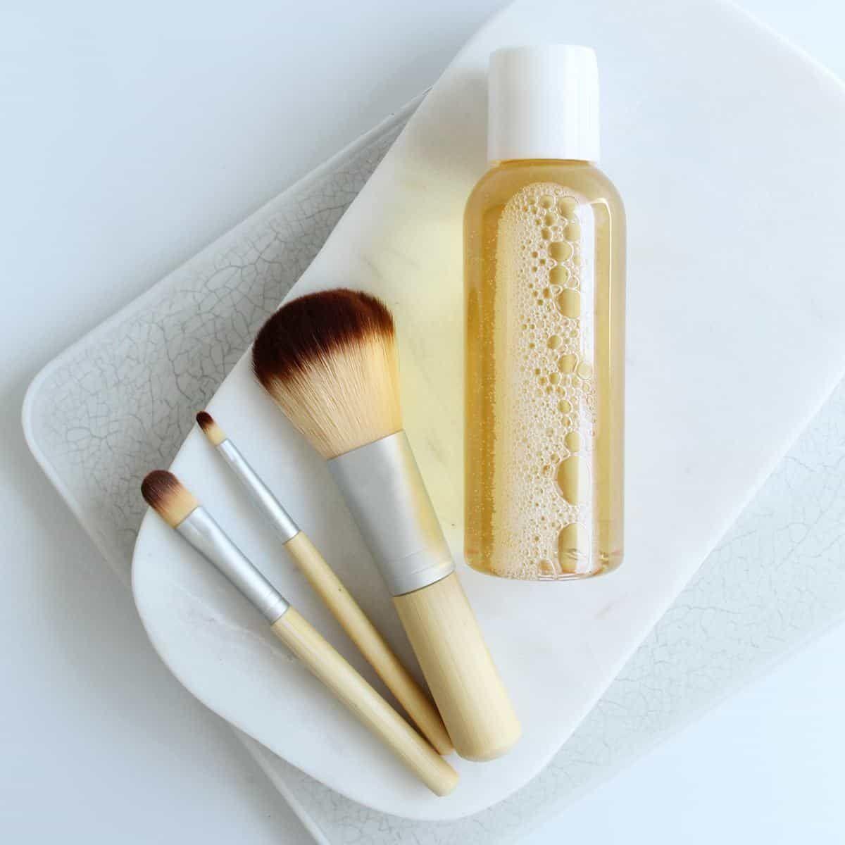 Photo of No Fuss DIY Natural Makeup Brush Cleaner Recipe
