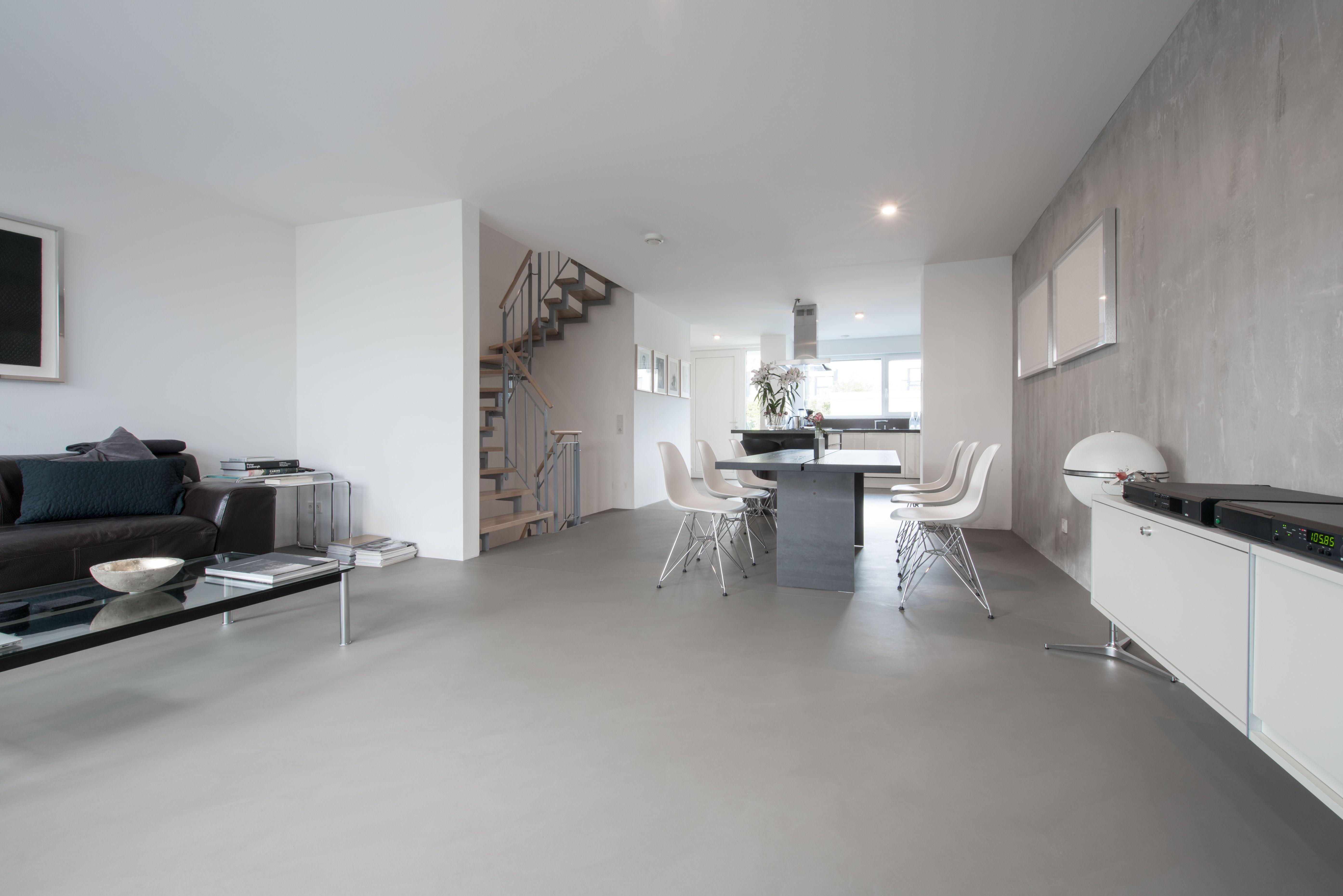 Fugenloser Boden Betonboden Wohnzimmer Fugenloser Boden Loftstyle