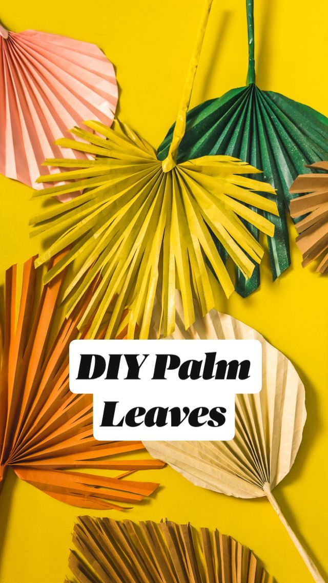 Nice DIY Palm Leaves