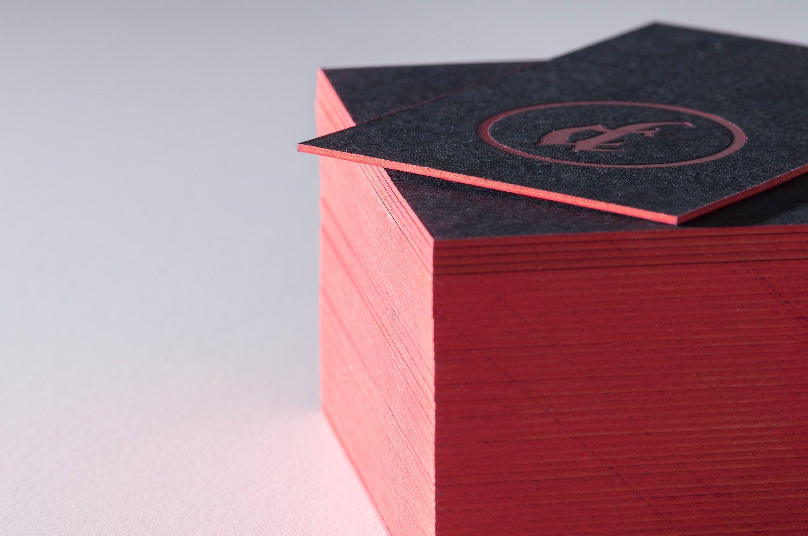 Letterpress Farbschnitt Visitenkarten Visitenkarten