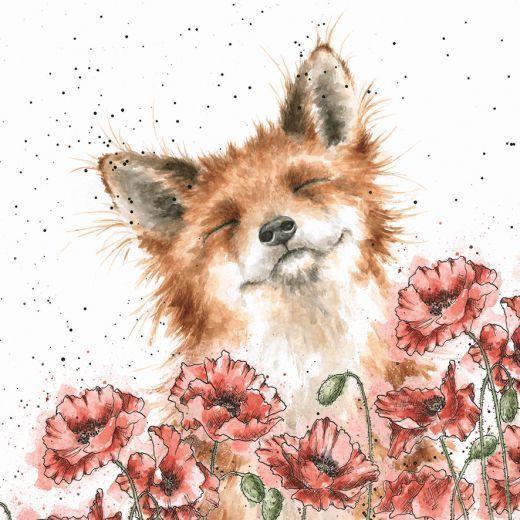'Poppy Field' card – Kunst