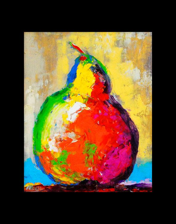 PEAR Painting Canvas Giclee Still Life by ThePrintCollection, $20.00 ...