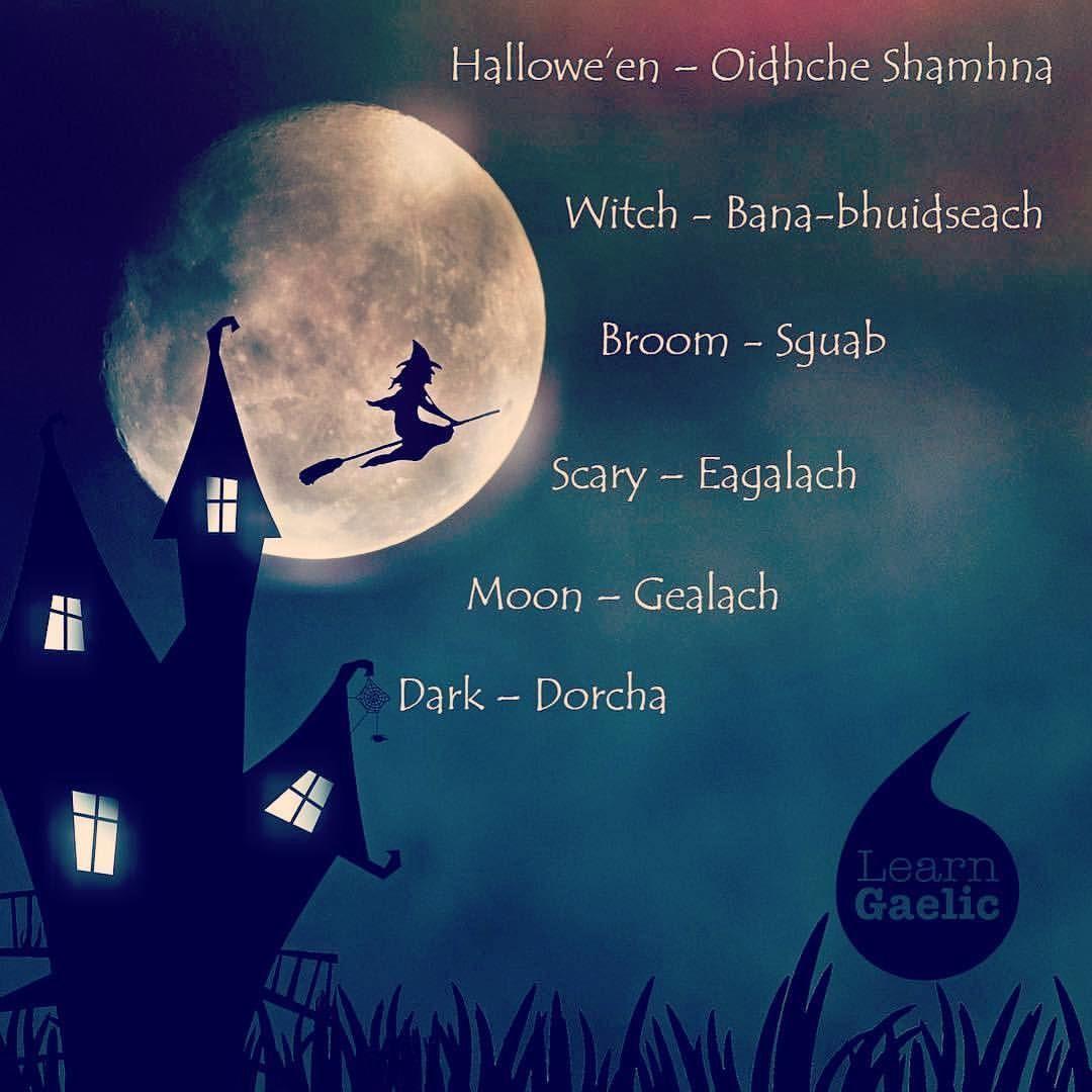 Repost Learngaelic 20 Gaelic Words For Halloween Fichead Facal Gaidhlig Airson Oidhche Shamhna Http Learngaelic Gaelic Scottish Gaelic Gaelic Words