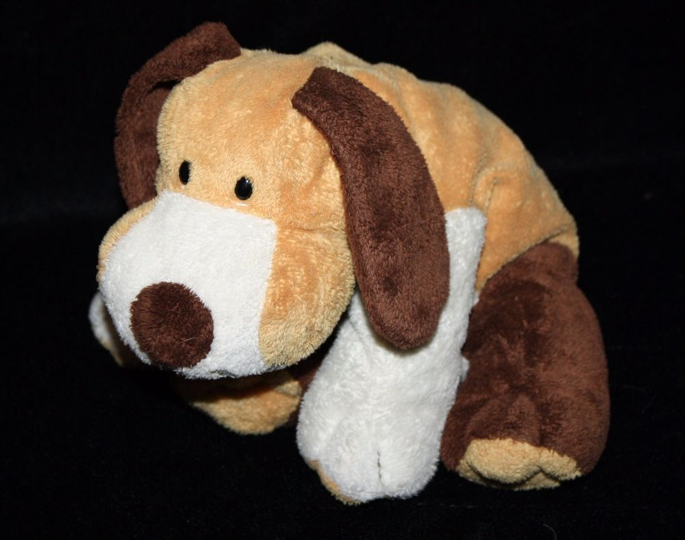 Ty Pluffies Whiffer Dog 10 Brown Tan White Plush Tylux 2002 Soft