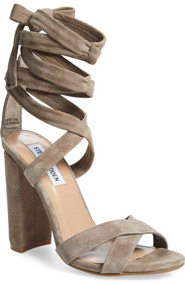 037a723ef0c STEVE MADDEN  Christey  Wraparound Ankle Tie Sandal.  stevemadden  shoes   sandals