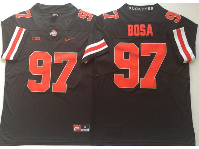 quality design d33f7 ff79a Ohio State Buckeyes #97 Joey Bosa Black College Football ...