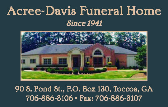 Funeral Home Since 1941 Fax 706 886 3107 Acree Davis Funeral Home Toccoa Ga Georgia Hartwellga Shoplocal Localga House Styles Funeral Home Toccoa On the street of south pond street and street number is 90. pinterest