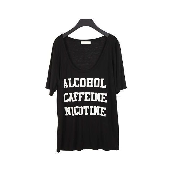 T-shirt - Addict (€23) found on Polyvore