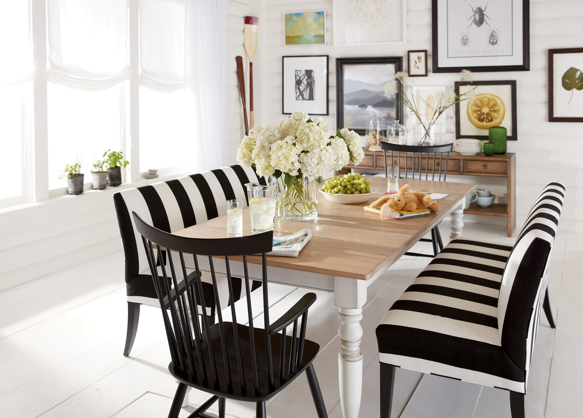 Kitchen table benches  Bench Warmer Dining Room  Ethan Allen  Dream House  Pinterest