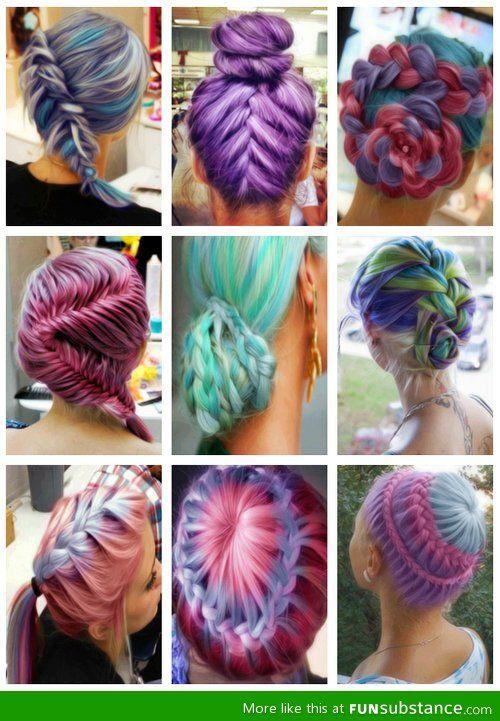Creative Color Hairdos