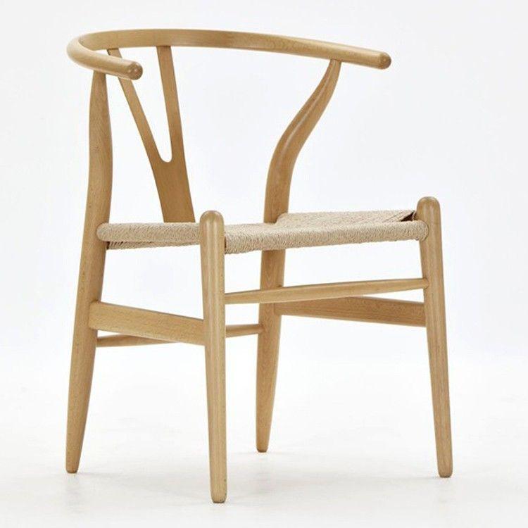 Hans Wegner Y Chair Wishbone Ch24 Eetkamerstoelen Wishbone Stoel Stoelen