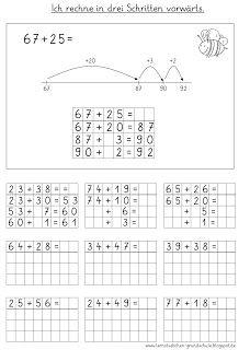 plus in drei schritten lernstübchen | mathe unterrichten, mathe 2. klasse und mathematikunterricht