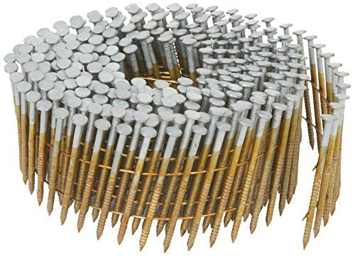 Hitachi 13363 1 3 4 Inch X 0 092 Inch Full Round Head Ring Shank Hot Dipped Galvanized Wire Coil Siding Nails 3600 Pack Check Out This Great Pr Framing Nails