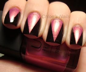 Chloe's Nails: Pink Wednesday Tape Mani :)