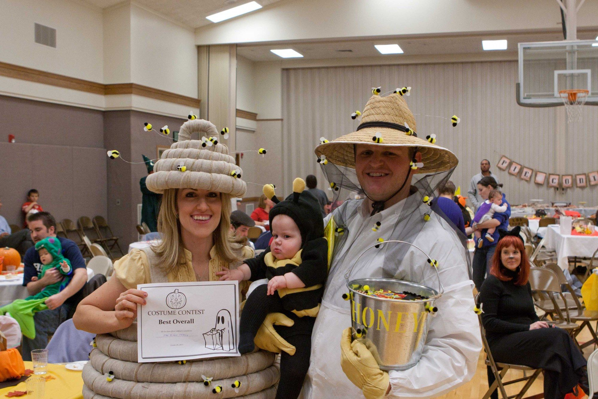 Our little honey bee costume contest and happy halloween