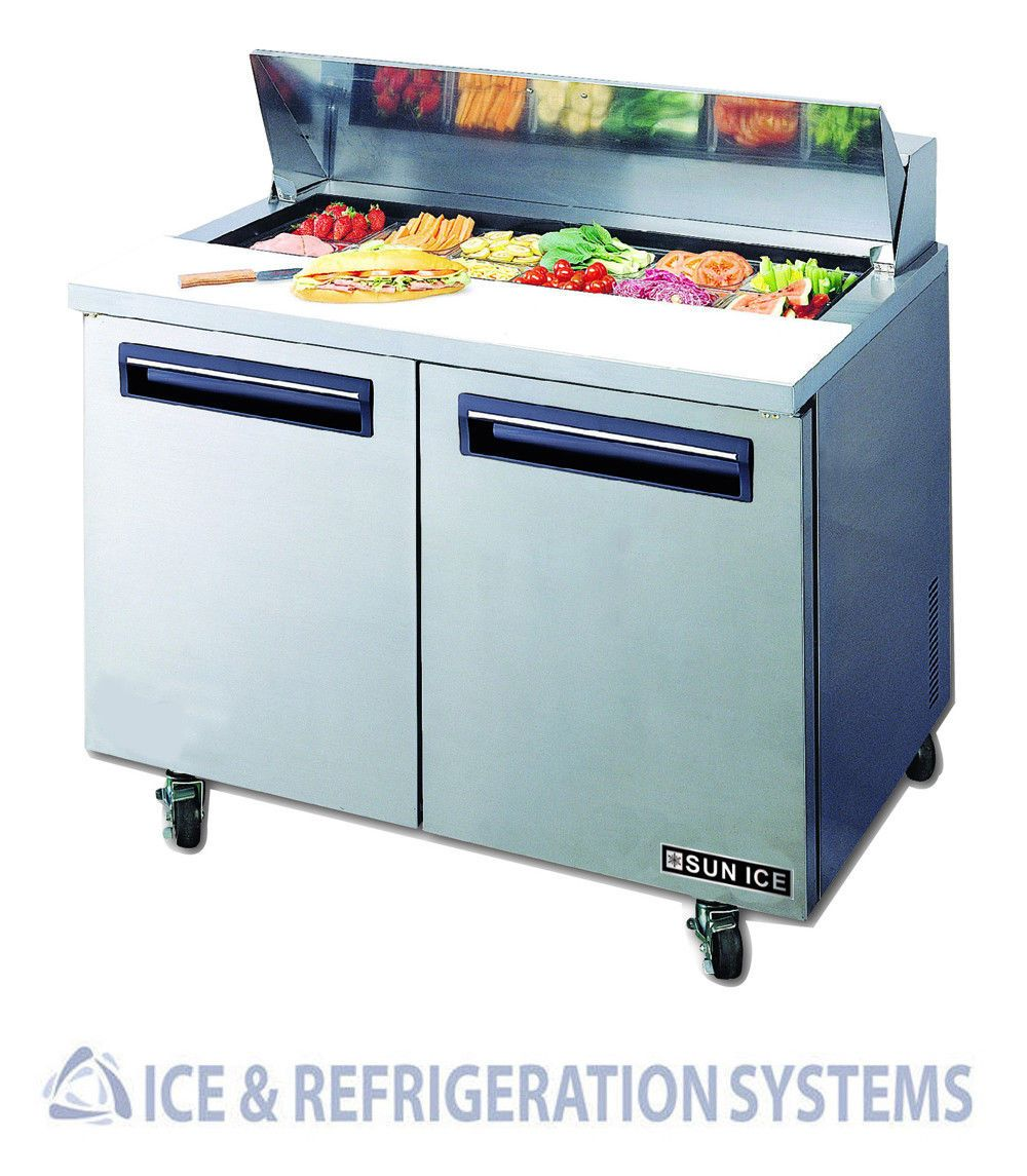 SUN ICE COMMERCIAL SALAD SANDWICH REFRIGERATOR PREP TABLE - Sandwich prep table cooler