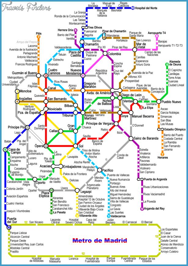 Subway Madrid Map.Madrid Subway Map Http Travelsfinders Com Madrid Subway Map Html Madrid Metro Metro Map Subway Map