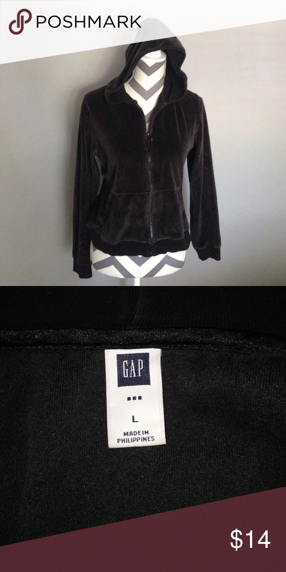 Ladies Gap Velour Jacket Sz Lg Gap Dark Brown Velour Jacket With Zippered Front With 2 Pockets Size Lg But Runs A Little Small 21 Arm Velour Jackets Fashion Design Velour Pants