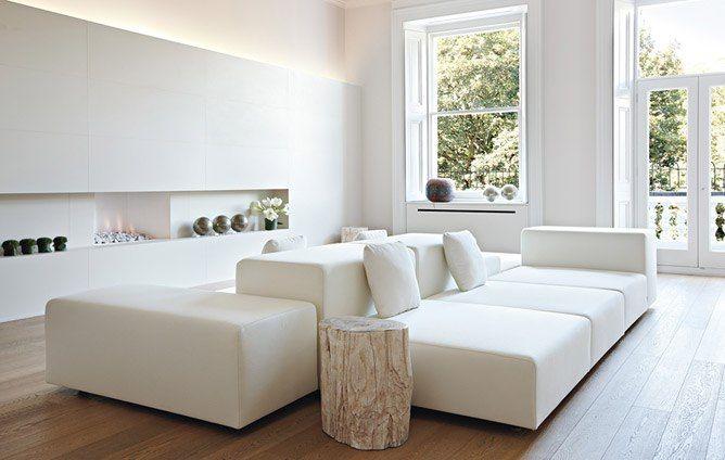 Divani Bianchi Moderni : Distinctive fireplaces to keep you warm in style divani