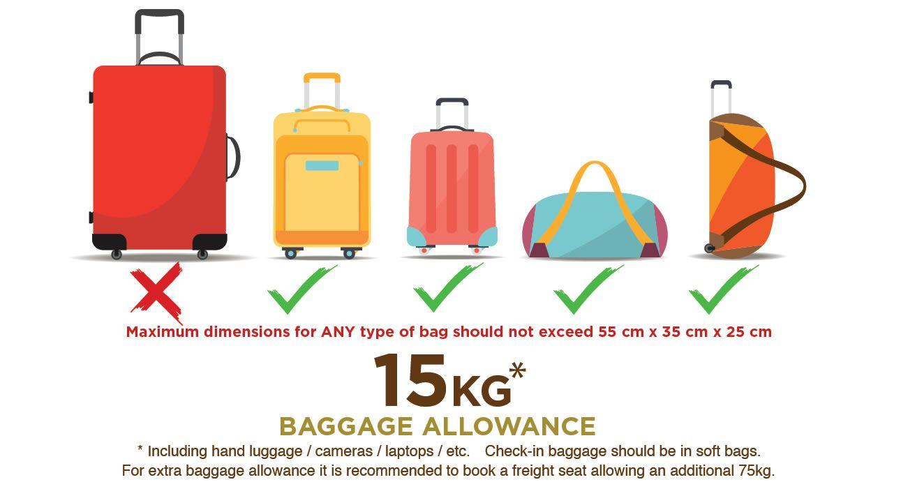 Safarilink Baggage Allowance Baggage Hand Baggage Luggage