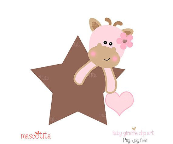 Baby  giraffe clip art by mascotita on Etsy, $4.00