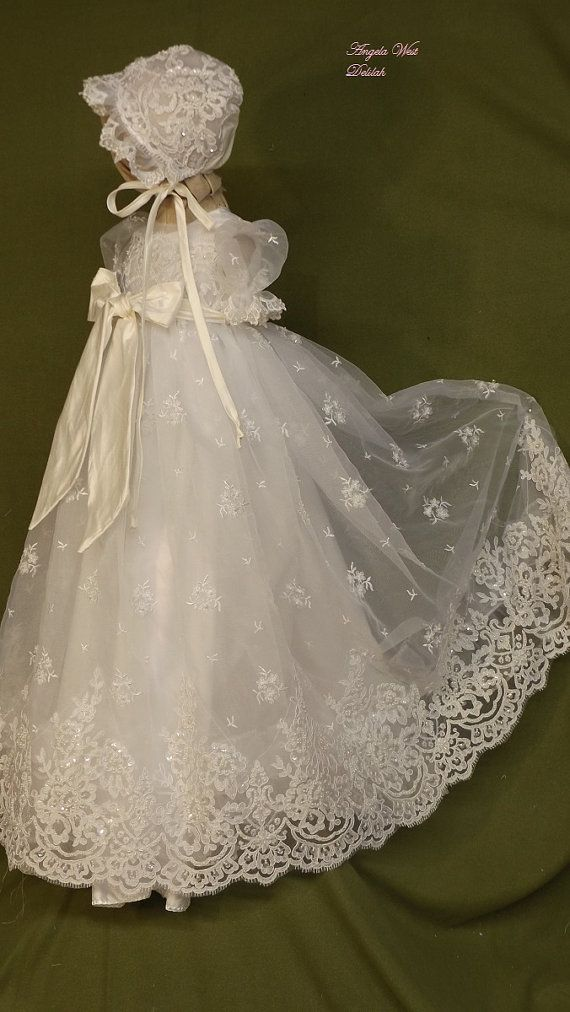Angela West Christening gown set \