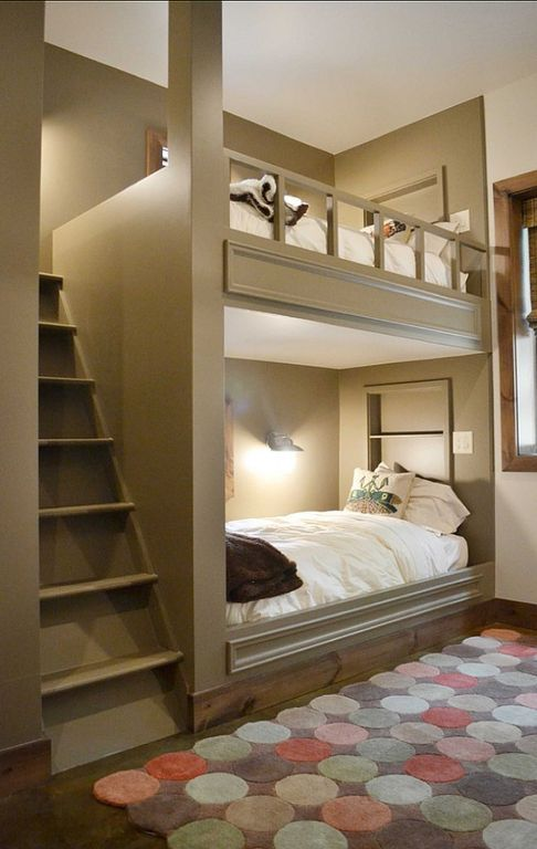 Contemporary Kids Bedroom With West Elm Belgian Linen Duvet Cover Bunk Beds Wall Sconce Micro Plush Fleece Blanket