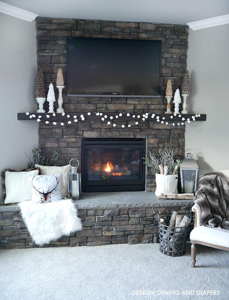 Cozy Winter Mantel - Taryn Whiteaker