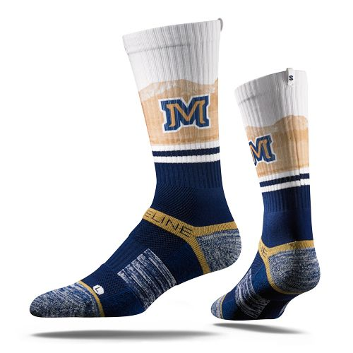 Strideline Skyline Socks feature Skyline themed, athletic crew socks for todays athlete and polished individual.