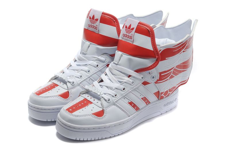 best sneakers 37e98 7bfbc Adidas Jeremy Scott JS Wings 2.0 Air Force Flag Red White