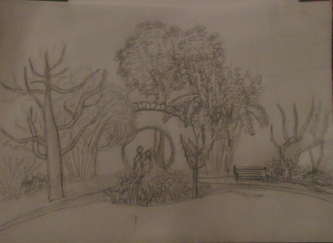 My first sketch in a long long time. From the chinese garden in ...