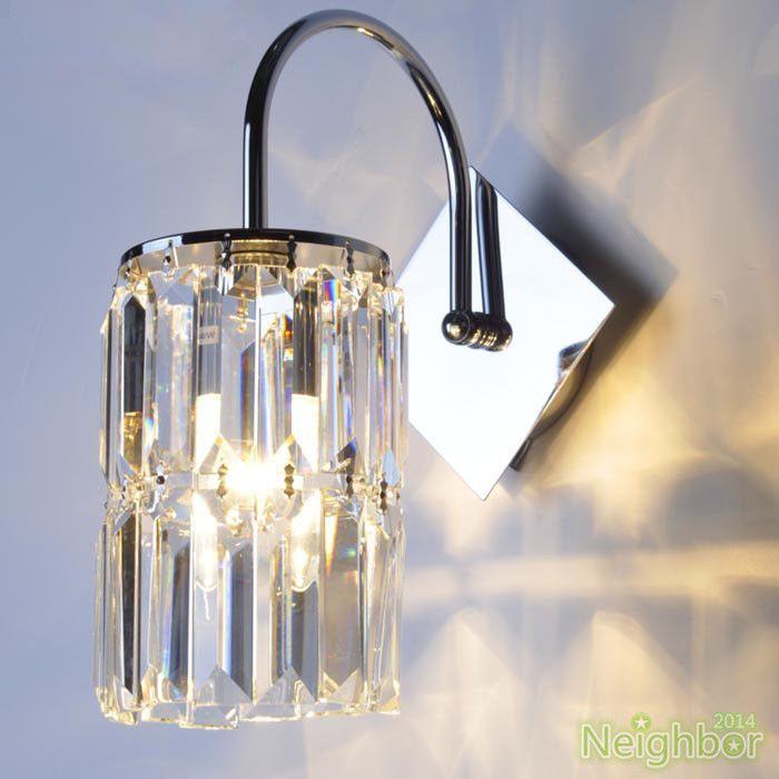 Modern Minimalist Crystal LED Wall Lamp Wall sconce light Hallway lighting #LOCO #Modern