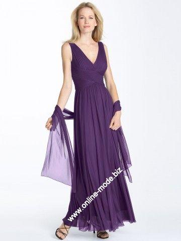 V Dekoltee Abend Kleid in Lila von www.online-mode.biz ...