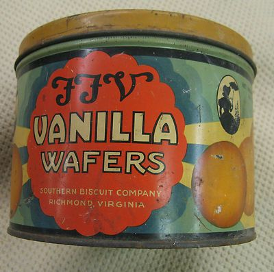 FFV Vanilla Wafers Souther Biscuit Company Tin Can Vintage ...