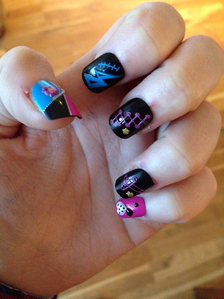 Cute Monster High Nails Nail Designs Pinterest Monster High