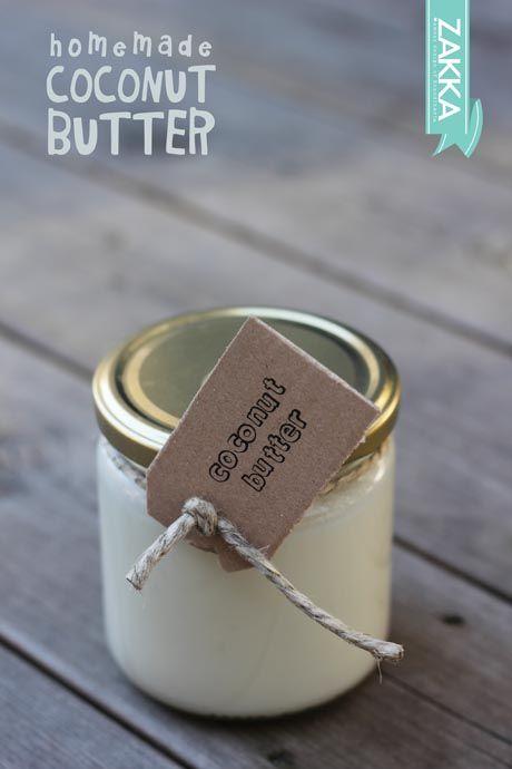 Homemade Raw Coconut Butter – RECIPE | ZAKKA – sweet design of Scandinavia • raw food, raw sweets, vegan, paleo, dairy free butter, DIY