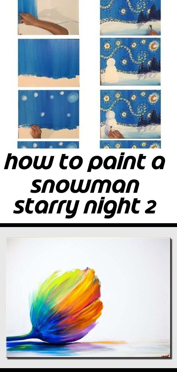 How to paint a snowman starry night 2 How To Paint Snowman Starry Night  Tracies Acrylic Canvas Tutorials Step by step painting for the absolute beginner of all ages FREE...