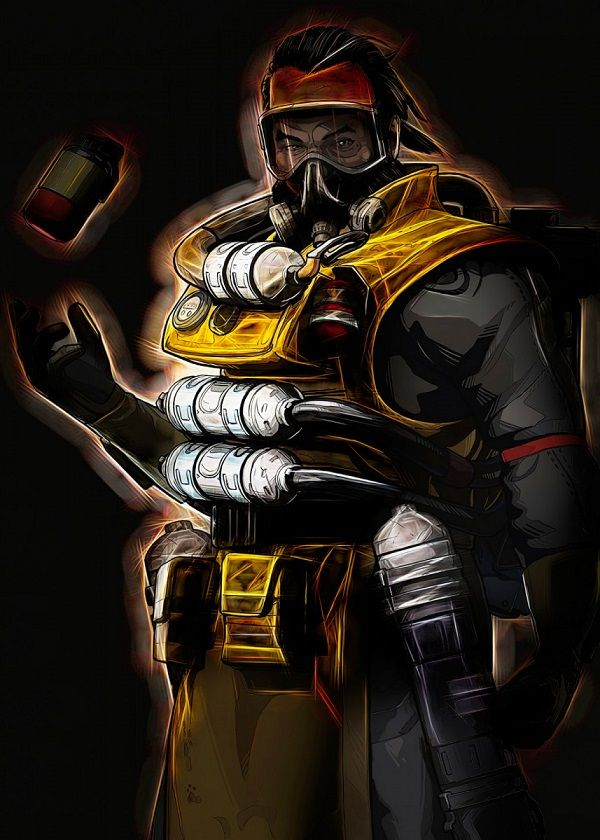 """Apex Legends Outer Glow Characters Gibraltar #Displate explore Pinterest""""> #Displate artwork by artist """"Negros… 