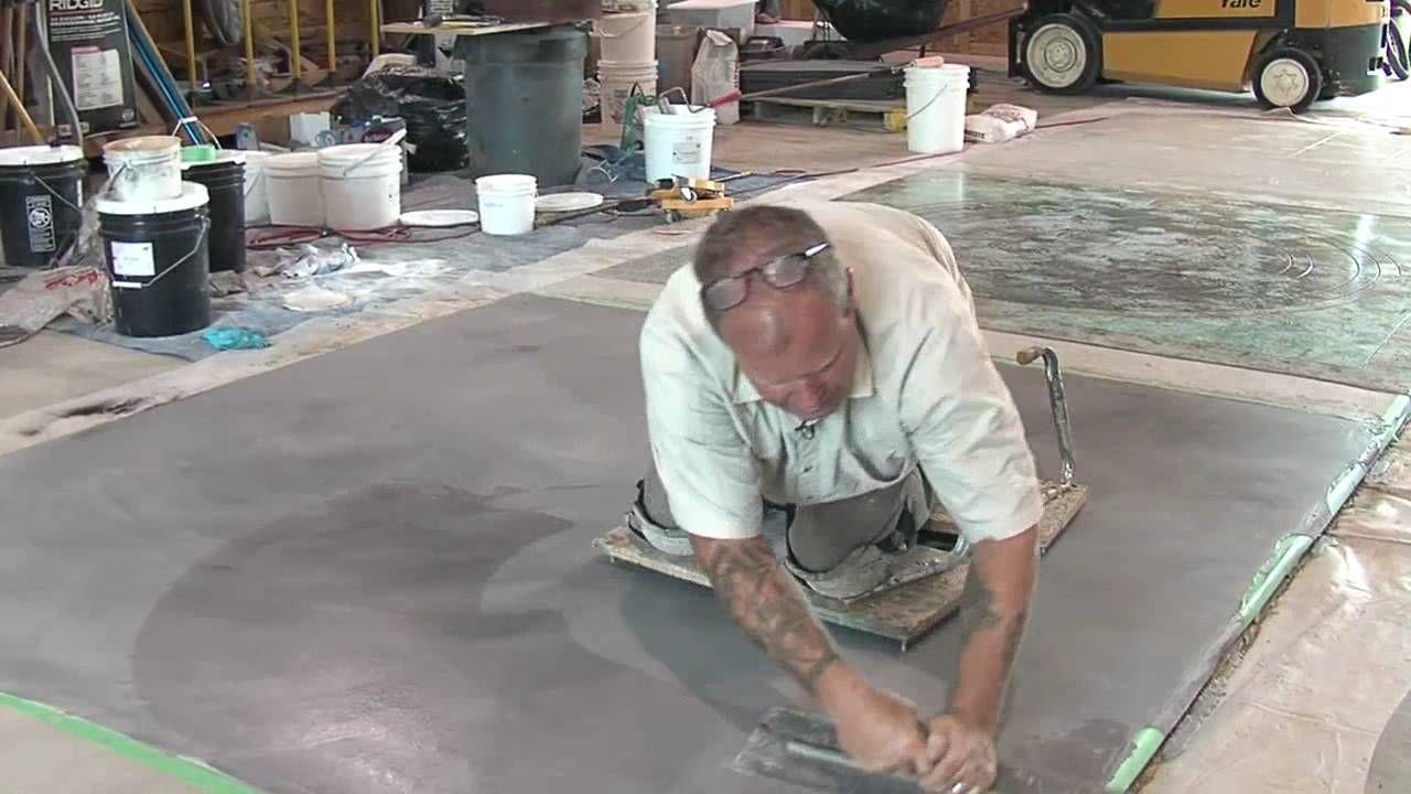 Concrete Resurfacing Skimcoat Overlay Application Concrete Resurfacing Concrete Concrete Patio