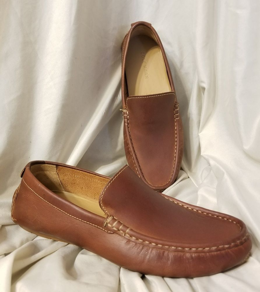 3bae28b6b21 Cole Haan mens driving moccasin Somerset Venetian sz 8.5 M brown leather  loafer