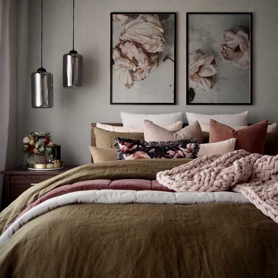 Sublime habitación, estos tonos suaves son encantadores