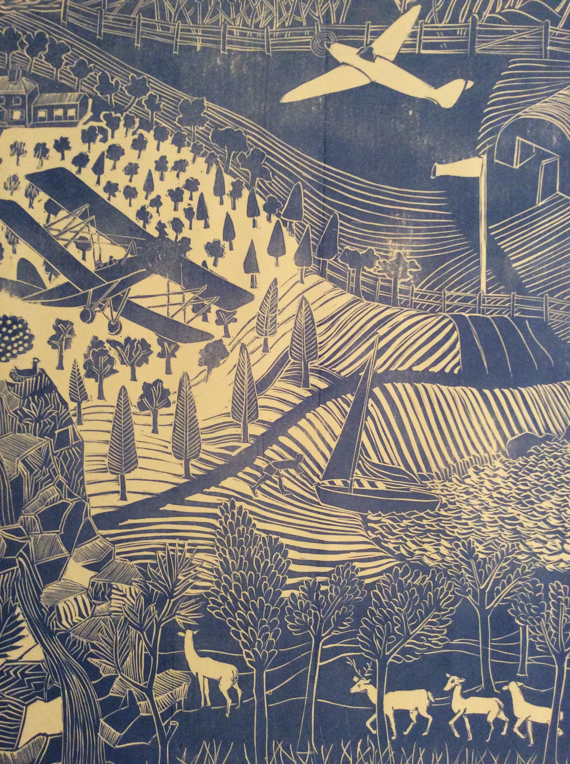 Marthe Armitage Tigermoth Wallpaper Detail Textiles And