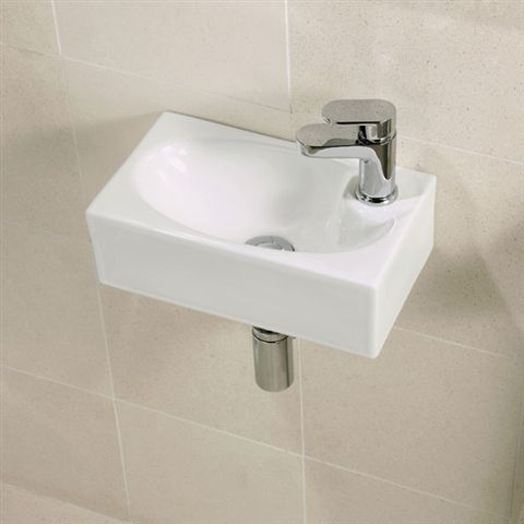 Statuette Of Small Wall Mounted Sink A Good Choice For Space Challenged Bathroom
