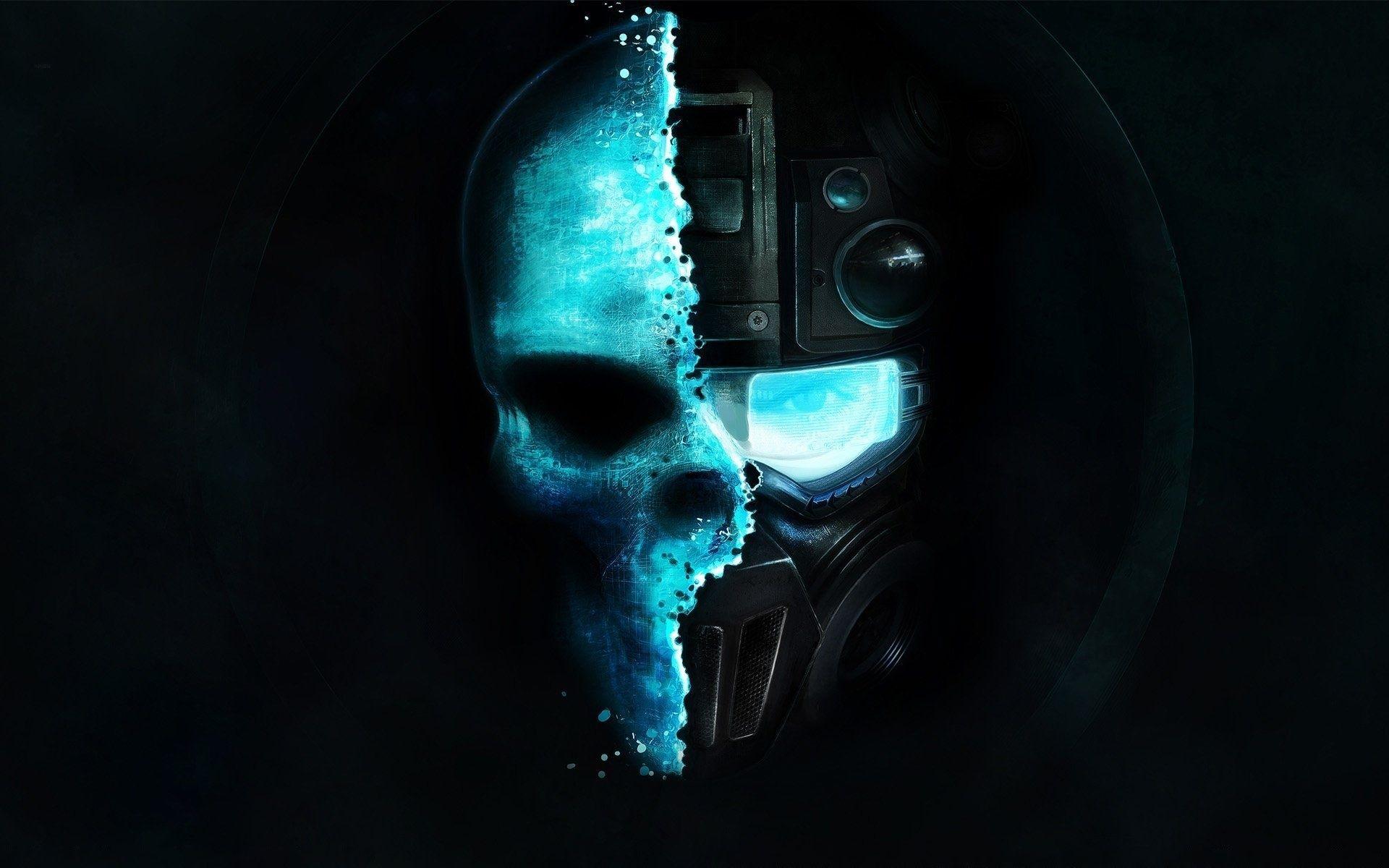 Ghost Recon Future Soldier Dark Horror Skulls Face Sci Fi Science Futuristic Wallpaper Background Skull Wallpaper Gaming Wallpapers Tom Clancy Ghost Recon