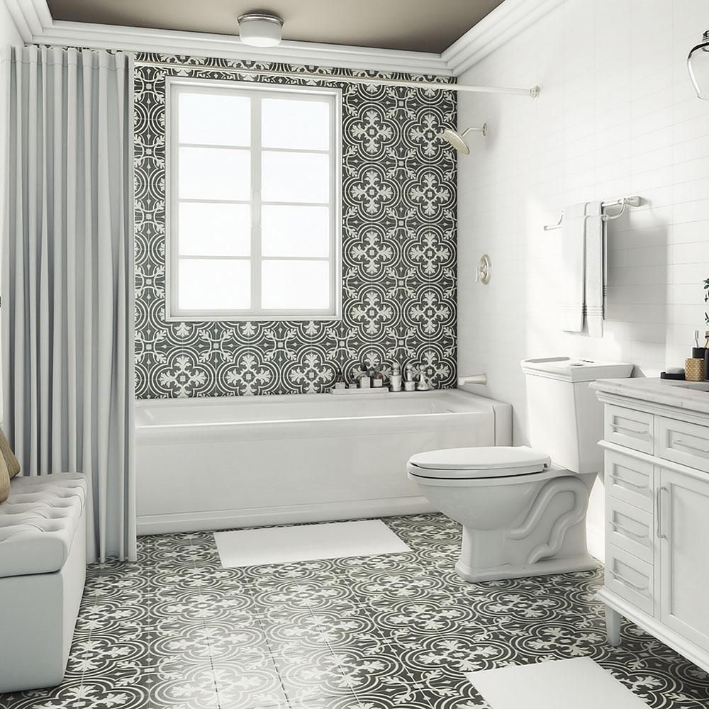 Merola tile twenties classic 7 34 in x 7 34 in ceramic floor merola tile twenties classic 7 34 in x 7 34 in ceramic floor and wall tile 11 sq ft case dailygadgetfo Images