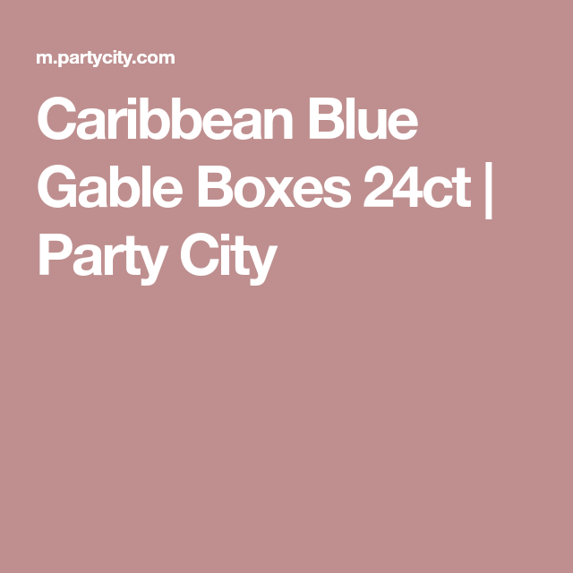 Party City Gable Boxes: Caribbean Blue Gable Boxes 24ct
