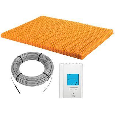 Schluter Systems Ditra Heat Kit 43 1sf Matt 26 7sf Cable Underfloor Heating Flooring Flooring Tools