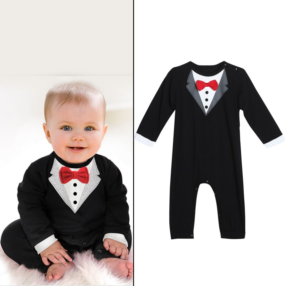 8edf8dc07 Newborn Spring Baby s Overall for Boy Toddler Gentlemen Clothes Set ...